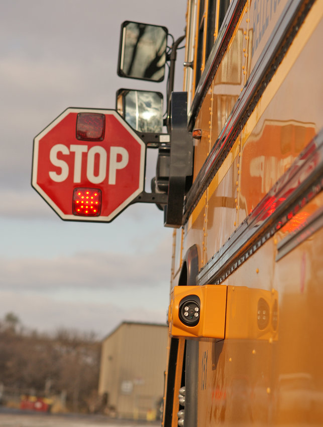 STOP, DON'T PASS — An automated camera is shown on a stopped school bus in an image provided by Verra Mobility, the Arizona company chosen by Oneida County for a program to crack down on drivers who pass stopped school buses.