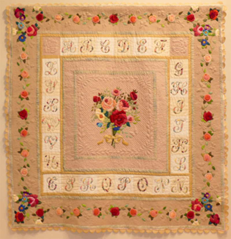 """BEST IN SHOW — """"Love Letters,"""" quilt by Judith Craddock"""