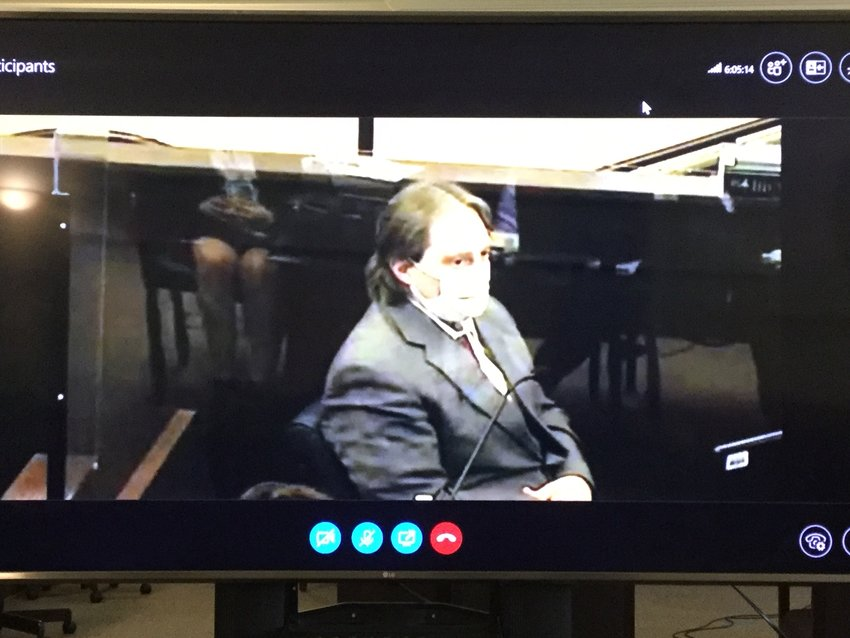 SUSPECT ON THE STAND — Accused killer Jason P. D'Avolio took the witness stand in his own defense on Monday. He told the jury that his wife, Kerrilee, likely shot herself with the rifle he bought, and he only found her body that night.