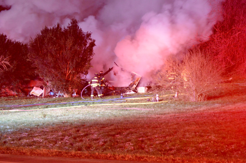 TWO KILLED IN HOUSE FIRE — It is believed that at least two people were killed in a house fire on Rome-Oriskany Road late Tuesday night. Crews from Rome and Stanwix Heights responded to battle the fire. The Sheriff's Office is assisting in the investigation.