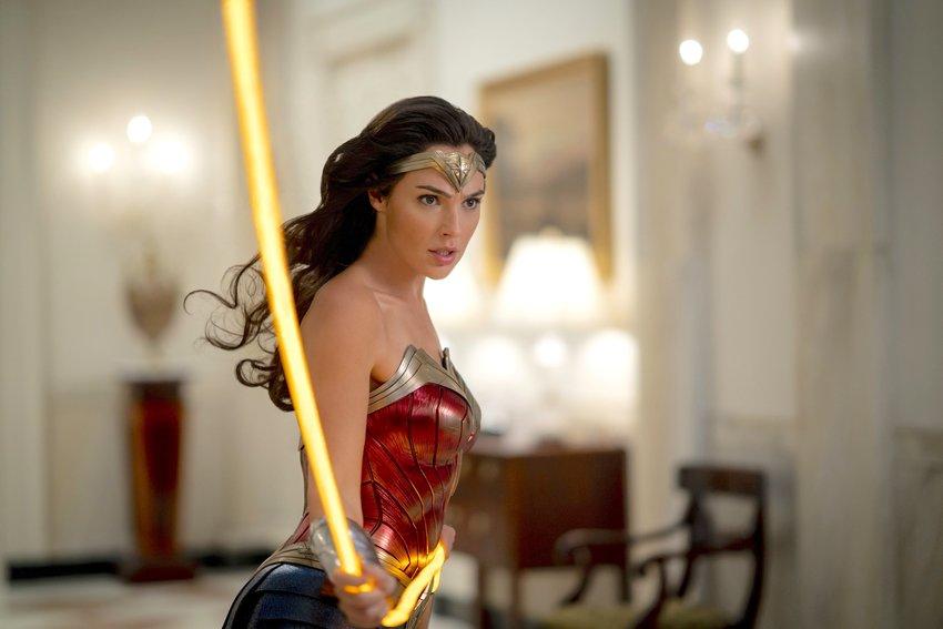 "Superhero — Gal Gadot in a scene from ""Wonder Woman 1984."""