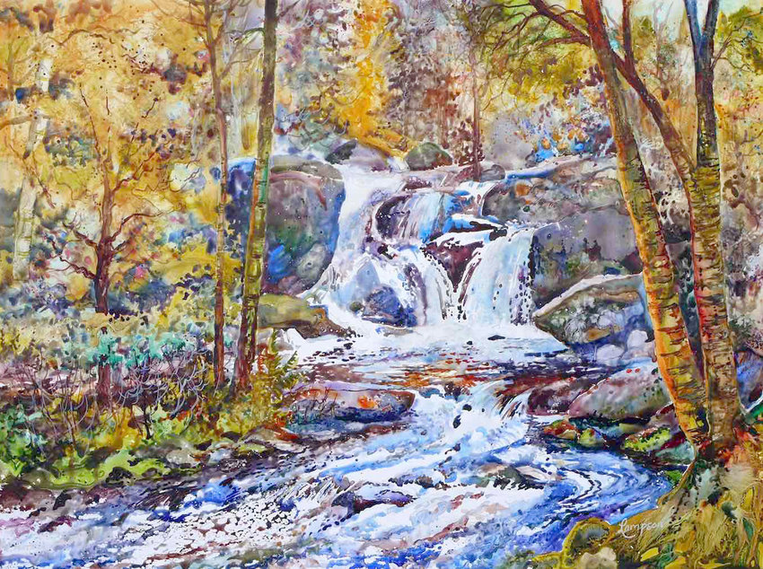"""""""Greenwood Falls"""" — Piece by Awards Judge Jeanne Lampson"""