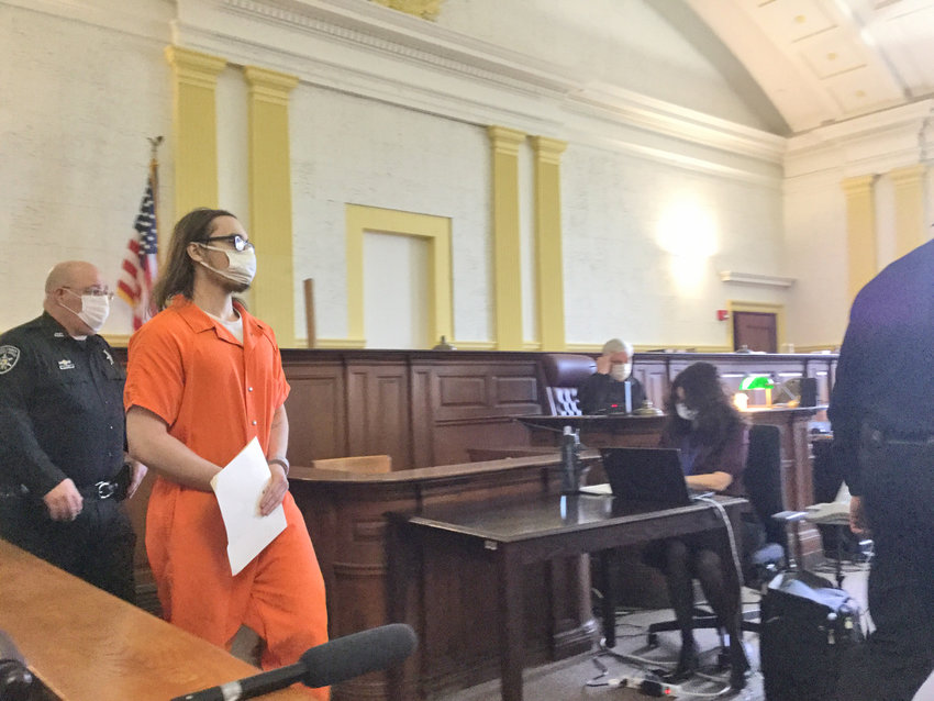 CLARK ENTERS THE COURT — Convicted killer Brandon A. Clark arrived in court Tuesday morning, nearly one year after his original sentencing date. That date was delayed due to the pandemic. Clark expressed disgust at his actions for killing 17-year-old Bianca Devins in Utica in July 2019, and uploading pictures of her body onto the internet.