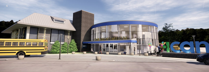 FUTURE PLANS — This mock-up shows what will be the new Utica Children's Museum.