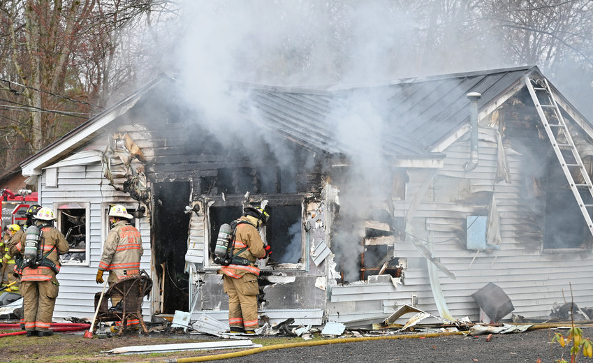 HOUSE DESTROYED — The residence at 2012 Pleasant Avenue in Sylvan Beach was destroyed by fire shortly after noon on Friday. Multiple volunteer agencies responded. The cause of the fire remains under investigation, according to fire officials.