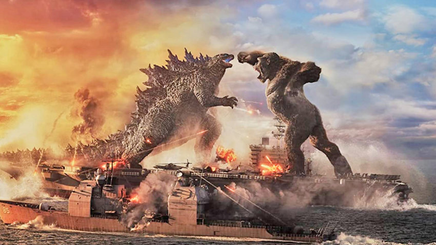 """BACK IN ACTION — Godzilla and King Kong square off in an epic battle for the ages in the aptly titled """"Godzilla vs. Kong,"""" which will be screened at the Cinema Capitol, starting today. Can  humanity wipe out both creatures and take back the planet once and for all? Only time will tell — the PG-13 rated film runs 153 minutes."""