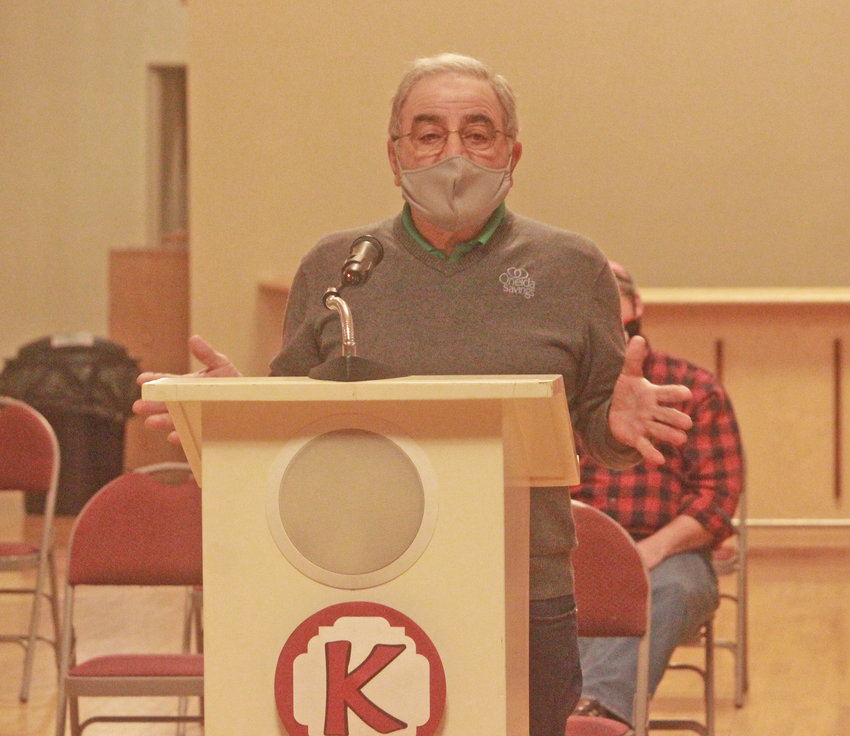 FERAL CATS — Former Oneida councilman Brahim Zogby speaks at the Oneida Common Council meeting on Tuesday, asking why a new feral cat committee had yet to be formed.