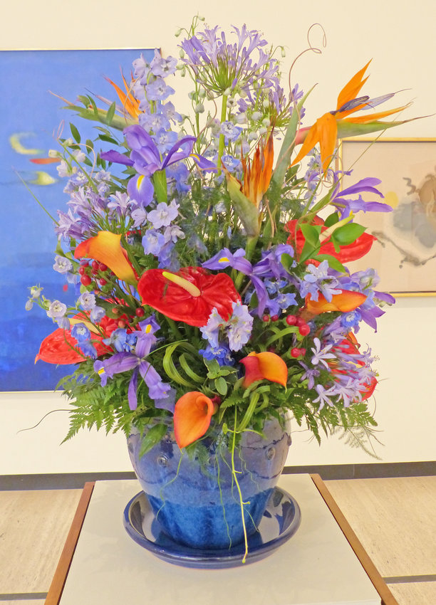 Ida Slagle — Norman Lewis, American, (1909-79), Heroic Evening, 1963, interpreted by Ida Slagle, Professional Florist and Artist, Canastota, 2018