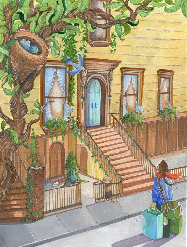 """Olivia Norris — Multimedia illustrationon paper, 18x24"""""""