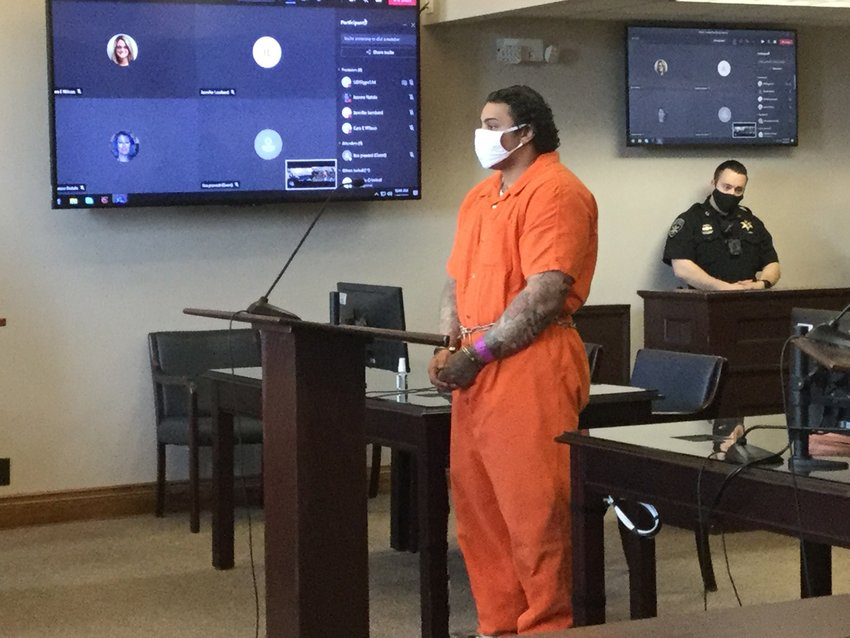 KILLER SENTENCED — Naythen Aubain, of Utica, was sentenced to 15 to 30 years in state prison Monday morning for killing and mutilating his grandmother and another woman.