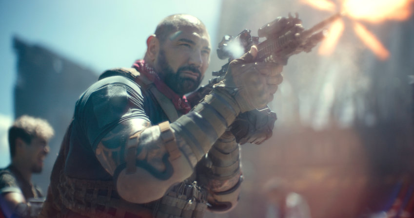 """Emotionless slugfest — Dave Bautista as Scott Ward in a scene from """"Army of the Dead."""""""