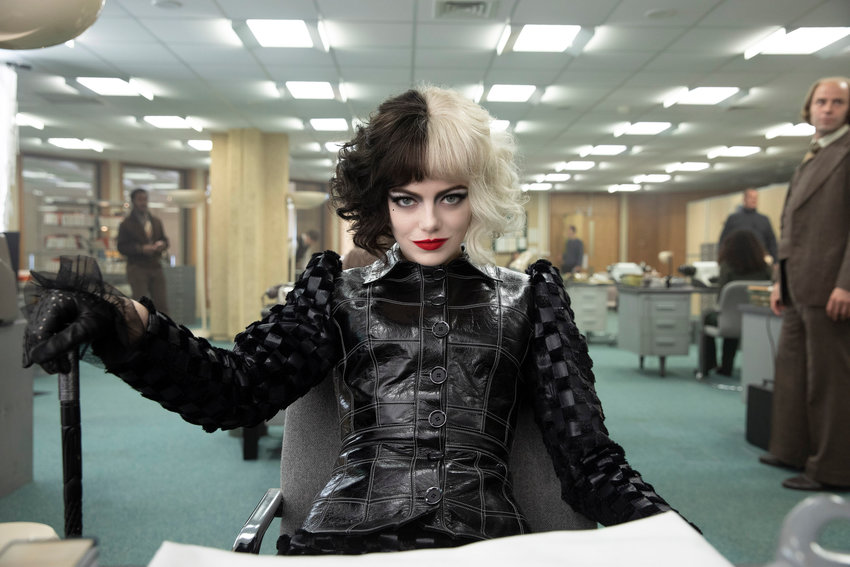 """origin story — Emma Stone in a scene from """"Cruella."""""""