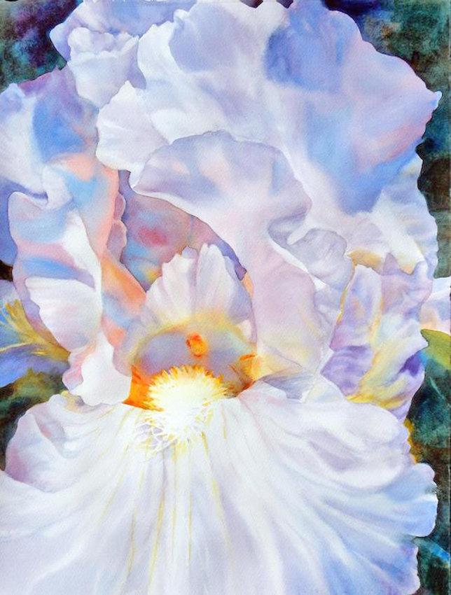 """Idyllic Iris"" — Piece by Ann Pember"