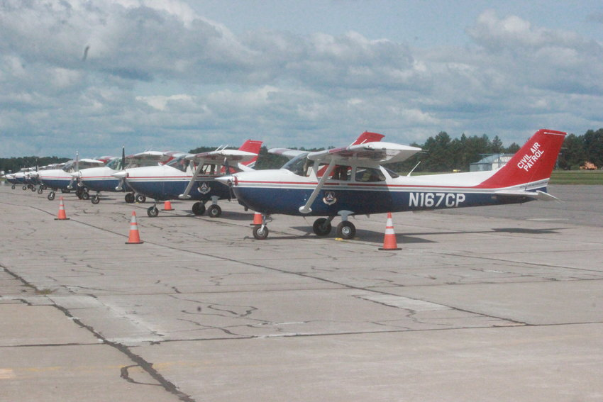 READY TO GO — Aircraft and crew from all nine of New York's wings arrived at the Rome base for a large-scale disaster relief training exercise on Saturday.