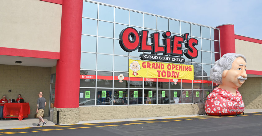 """COME ON IN — A customer heads inside Ollie's Bargain Outlet, 1899 Black River Blvd., during the store's grand opening on Wednesday. Dozens of shoppers arrived within minutes of the opening of the store, which offers """"good stuff cheap,"""" to check out the merchandise. Ollie's is open from 9 a.m. to 9 p.m. Monday through Saturday and from 10 a.m. to 7 p.m. on Sunday. For information, go online to www.ollies.us/427-Rome/."""