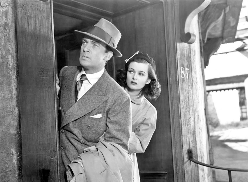 """Capitolfest feature — Walter Pidgeon and Joan Bennett in a scene from """"Man Hunt"""""""