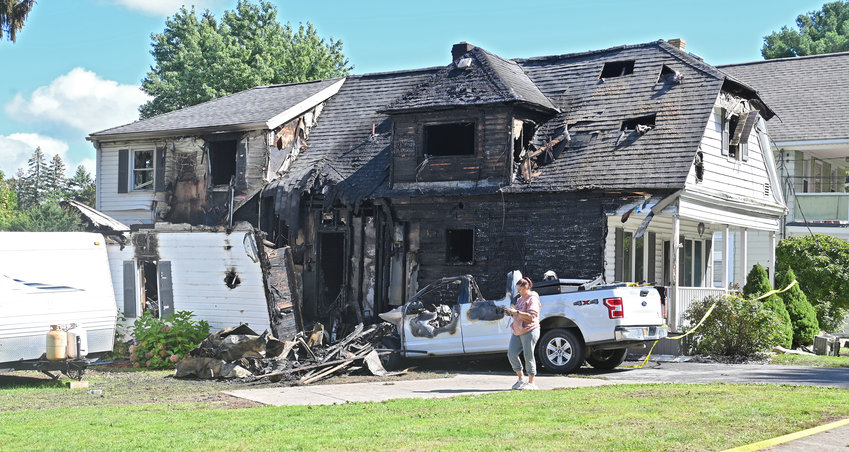DOG LOST IN FIRE — A family of four escaped this house fire on Campbell Avenue in Yorkville shortly after 3 a.m. Thursday, according to fire officials. The family's 14-year-old German Shepherd was killed. The cause remains under investigation.