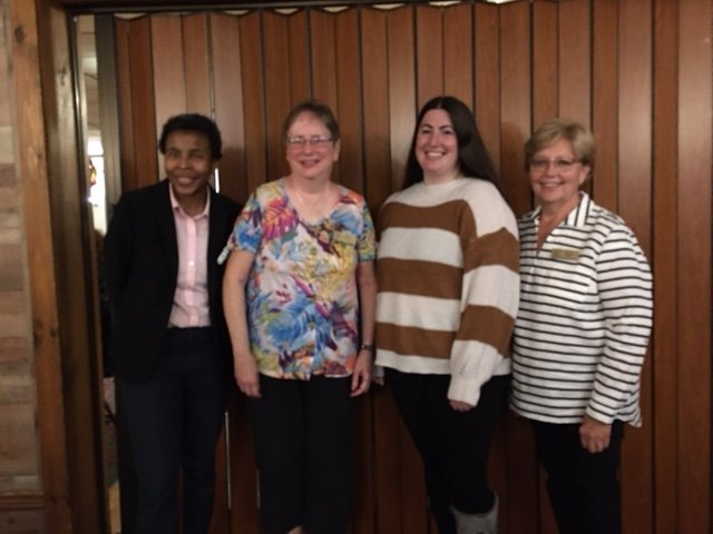 KICKING OFF NEW YEAR —The Zonta Club of the Oneida Area recently held its first meeting of the new club year, hearing presentations from a pair of speakers. From left: Dr. Camille Dillard, Rome Zonta president; Fay Eastwood, Oneida Zonta Club; Stephanie Heiland, of WANTO; and Karen Puglisi, vice president of the Oneida Zonta Club.