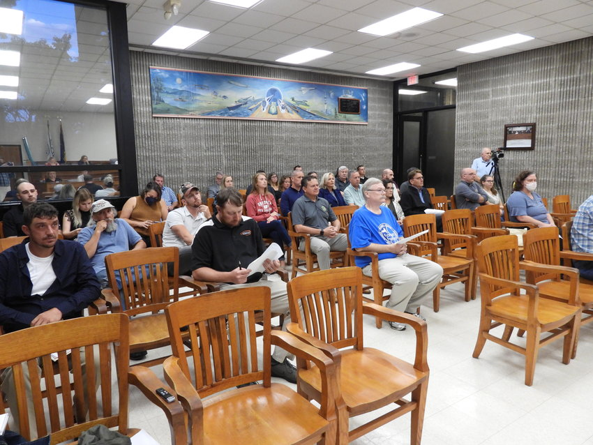 FULL HOUSE — Residents wait for their turn to address members of the Oneida Common Council during its meeting on Tuesday, Sept. 21. Residents discussed a variety of issues, including property conditions, signage and loitering.