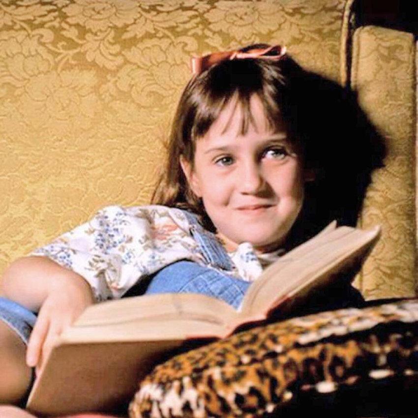 "BOOKWORM — Mara Wilson as Matilda Wormwood in a scene from ""Matilda."""