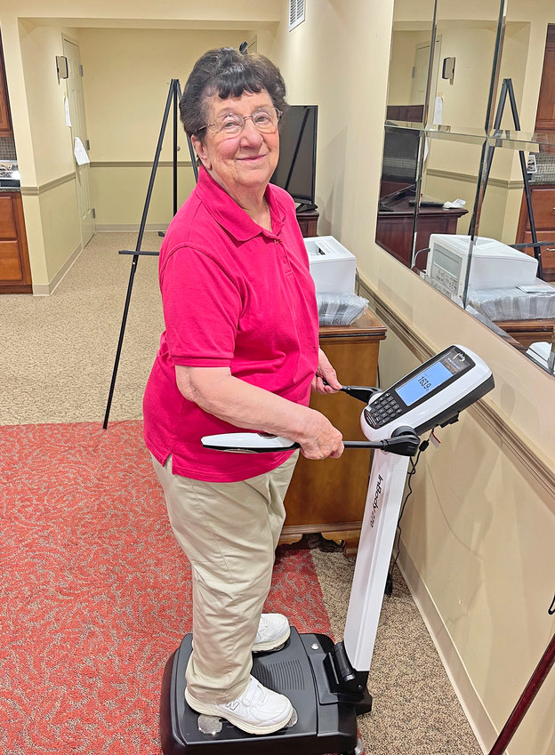 InBody 270 — The Community at Sunset Wood has received a donation to purchase an InBody 270 Body Composition Analyzer. It will be used in conjunction with Sunset Wood's Wellness Program.