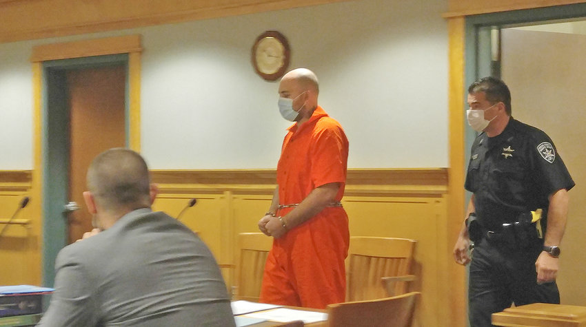ACCUSED KILLER IN COURT — Kyle J. Kirk, charged in the double homicide in south Rome Monday morning, appeared for arraignment in Rome City Court Tuesday morning.