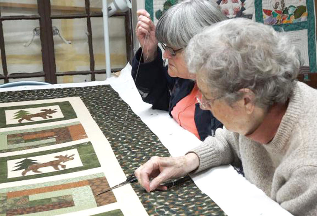 a stitch in time  — Members of Pointed Pine Quilters