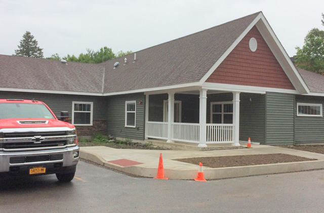 BRAND NEW — The new Lutheran Home Cottages, geared toward serving area seniors suffering from Alzheimer's disease or other memory impairments, are scheduled to open in September. The cottages may serve up to 14 residents.  (Clinton Record photo by Nicole A. Hawley)
