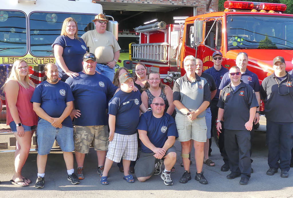 Fire Dept  welcomes special guest   Rome Daily Sentinel