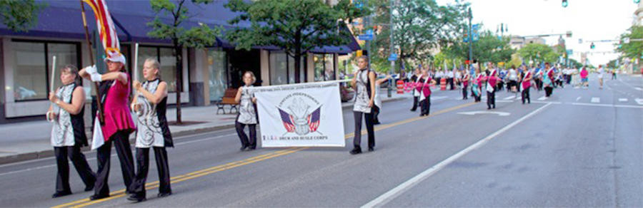 WINNERS AGAIN — Members of the Upstate Independent Drum and Bugle Corps have marched to their second consecutive victory in their class annual New York State American Legion Convention Parade in Rochester.  (Photo submitted/courtesy of Sorrendino photography)