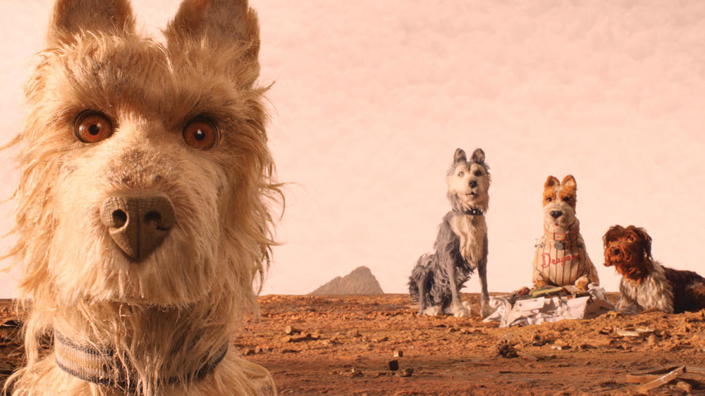 "ON THE ISLAND — Edward Norton as ""Rex,"" Jeff Goldblum as ""Duke,"" Bill Murray as ""Boss,"" Bob Balaban as ""King"", Bryan Cranston as ""Chief"" in the film ""Isle of Dogs.""  (AP/Fox Searchlight Pictures)"