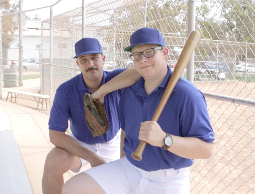 "FURLONG AT THE BAT — Holland Patent native Daniel Furlong, right, is on deck after writing this Sunday night's episode of ""The Simpsons."" Seen here with writing partner Zach Posner, Furlong said he tried to slip some local references into his episode.  (Photo submitted)"