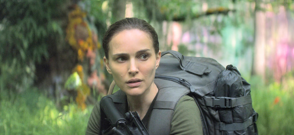 "EXPLORING — Natalie Portman in a scene from ""Annihilation""  (Paramount Pictures/Skydance via AP)"