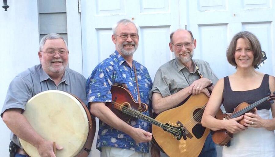 COFFEE HOUSE PERFORMANCE — Rattlin' Bog will perform March 17 at 7:30 p.m. at Park Coffee House, Holland Patent. The group will perform Irish songs. Members are, from left, Joe Rowlands (accordion, concertina, bodhra, vocals), Bill Fahy (mandolin), Rick Kincaid (guitar, vocals) and Amanda Stranney (fiddle).  (Photo submitted)