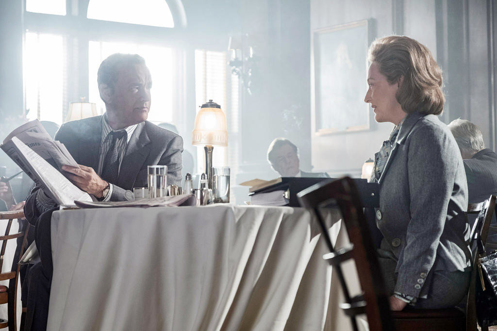 "OSCAR NOD — Tom Hanks and Meryl Streep in ""The Post""  (Photo submitted)"