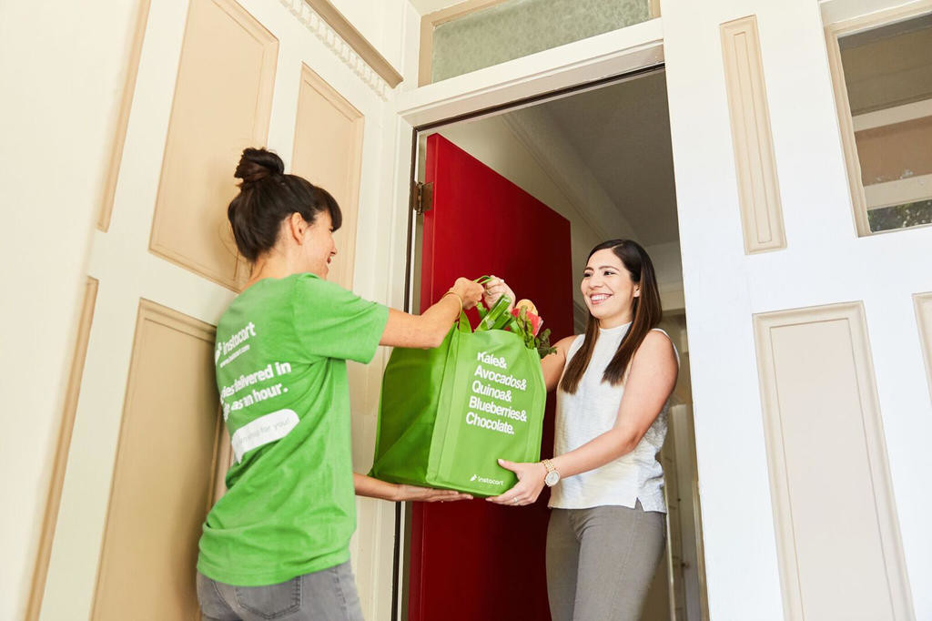 HOME DELIVERY — Instacart has brought  its grocery delivery service to households in the Rome area. The 5-year-old San Francisco company built its business by partnering with brick-and-mortar stores and contracting with shoppers who collect the items and delivery drivers who drop orders off at a customer's home or office.  (Photo provided)