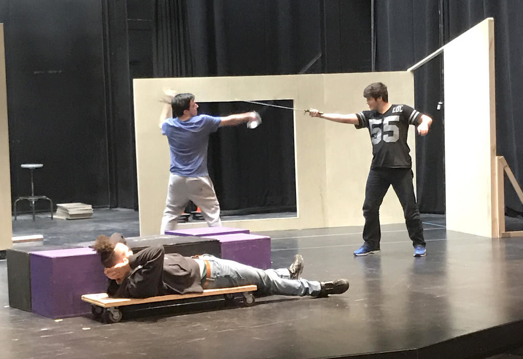"R & J & Z — The cast of the upcoming performance of the Colgate University Theater production ""R & J & Z"" prepare for their parts. The show picks up after Act V of ""Romeo and Juliet.""  (Photo submitted)"