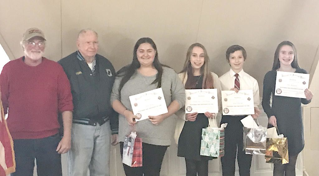 Townsend VFW Post announces winners of essay contests – Nashoba Valley Voice