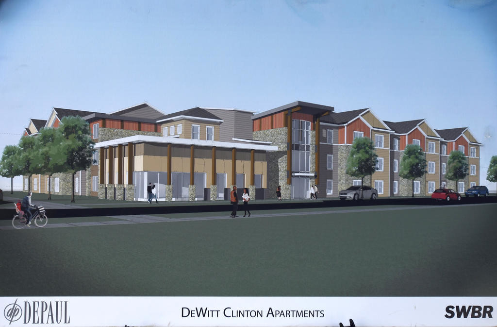 Three Story Apartment Building This Image Is A Rendering Of What Will Replace The