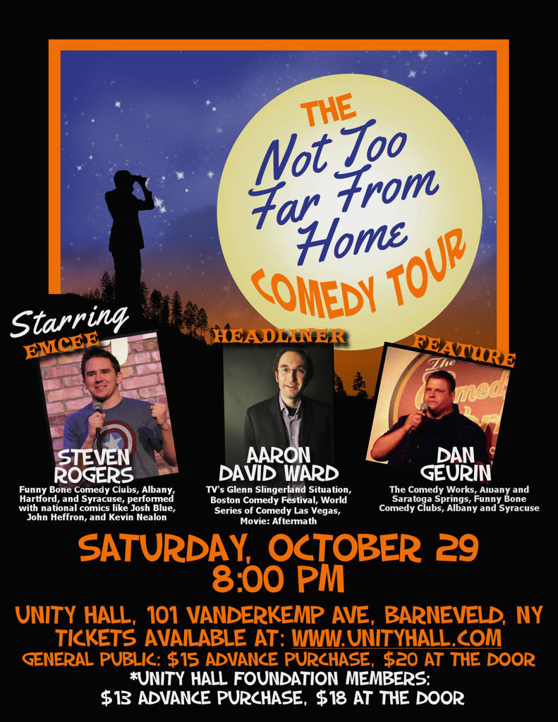 Comedy Tour at Unity Hall Saturday | Rome Daily Sentinel