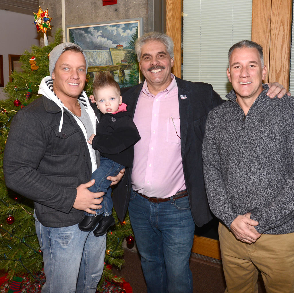 aaron page with his son oscar mayor fusco and rome daily sentinel aaron page with his son oscar mayor