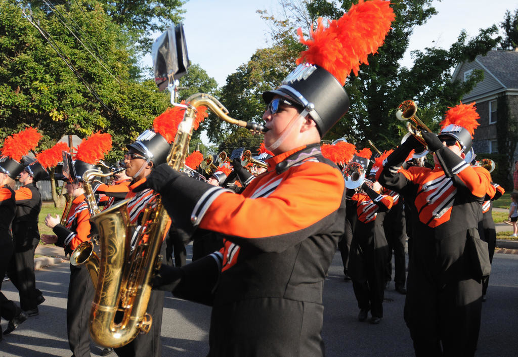 RFA Marching Band playing in the parade.  (Sentinel photo by Makenzi Enos)