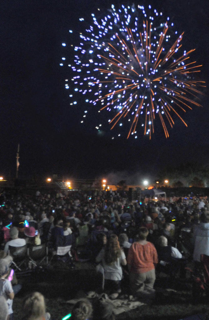 The lawn of Fort Stanwix filled with people to listen to the Symphony Orchestra and watch fire works.  (Sentinel photo by Makenzi Enos)
