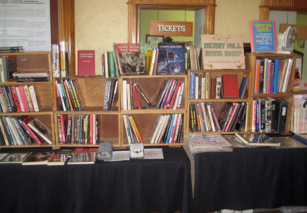MOVIE ITEMS — Books, CDs, photos and more were on display for sale at Capitolfest over the weekend in the Capitol Theatre.  There were 522 people attending at least one of the seven sessions.