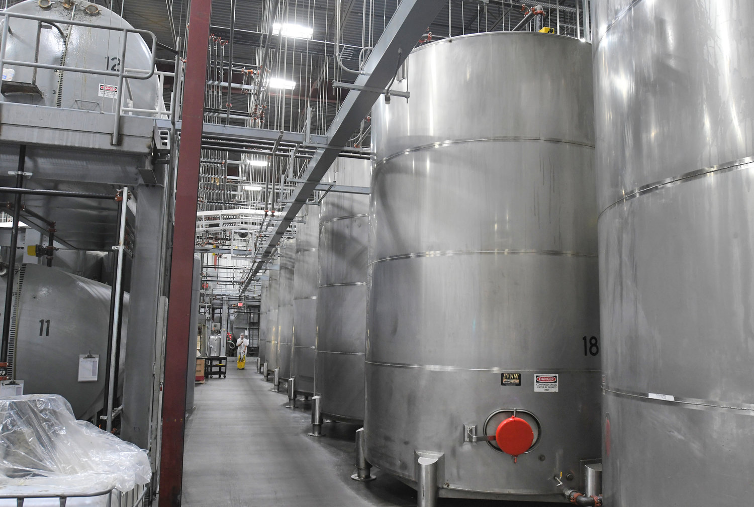 "TEMPORARY STORAGE — The ""tank farm"" area at Sovena USA's facility at Griffiss business park has olive oil and related products for blending and batching as part of the company's operations."