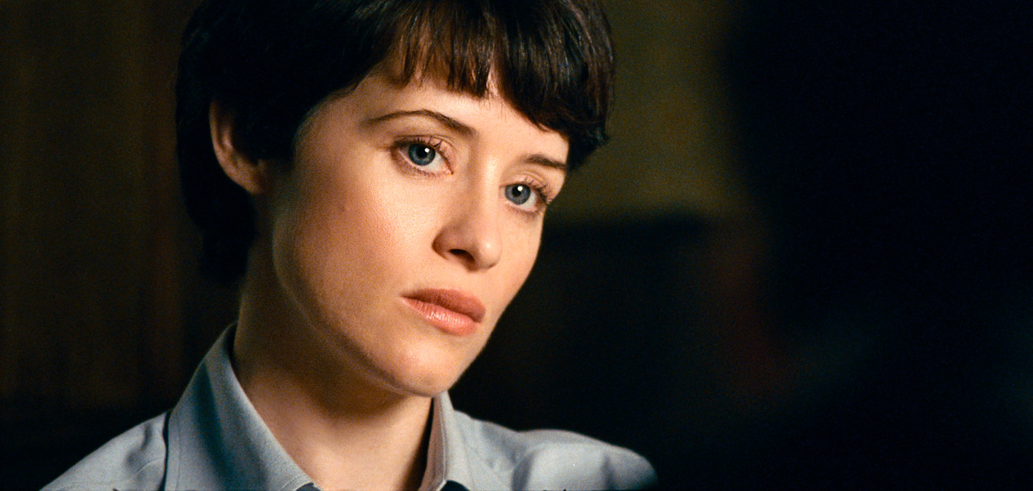 "WORRIED WIFE — Claire Foy in a scene from ""First Man."""