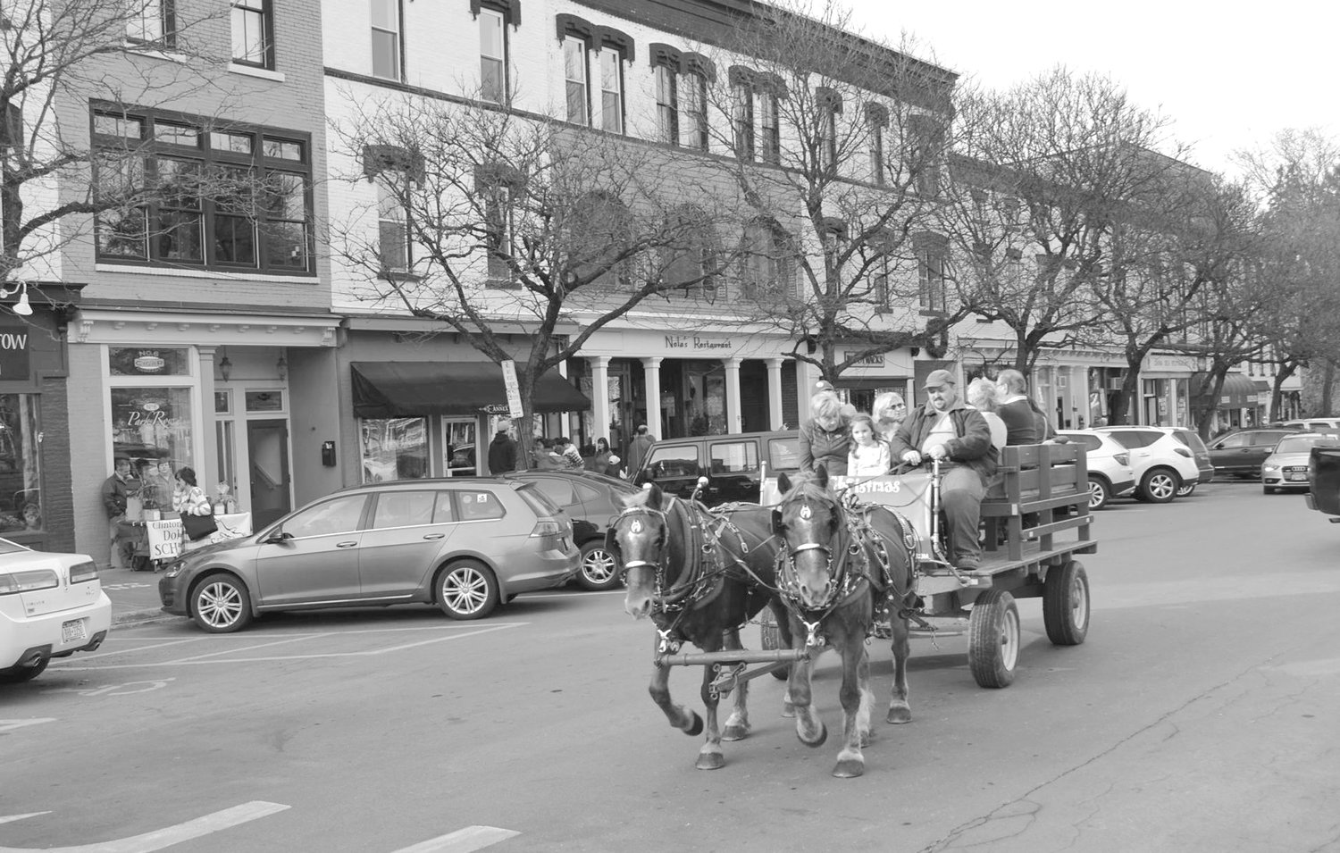 JINGLE BELLS — Horse-drawn wagon rides will return on Nov. 24 to Clinton's annual holiday celebration.