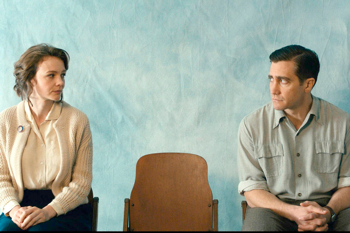 "FACING HARDSHIPS — Carey Mulligan, left, and Jake Gyllenhaal in a scene from ""Wildlife."""