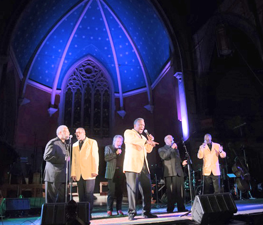 Five to Life, featuring Founder and second baritone James Robinson, first tenor and President Wesley Hampton, Second tenor Ron Mason, bass Sylvester Wallace and baritone Sam Wynn.