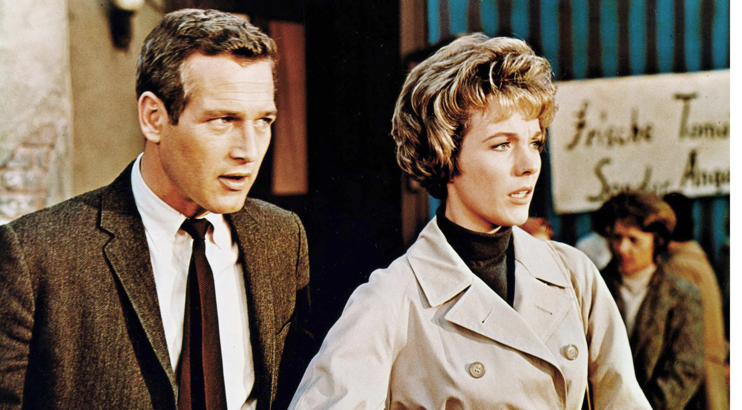 """TORN CURTAIN"" — Julie Andrews and Paul Newman star in Hitchcock's 1966 thriller."